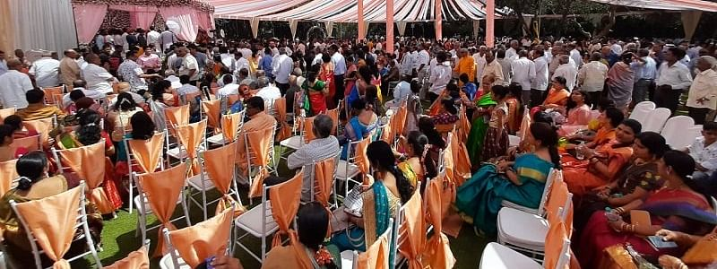 Thousands attend marriage of Karnataka Legislative Council chief whip's daughter