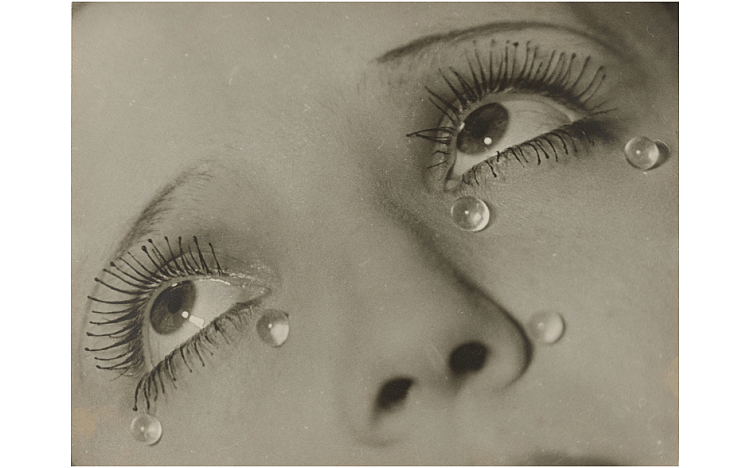 Glass Tears – This photograph can be interpreted in many ways. One interpretation is that it signifies the artificiality of art making or a scene that is staged to make it look convincing.