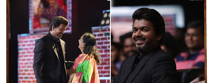 'Master' Audio launch gets emotional; Vijay gives a hug to his mother Sobha