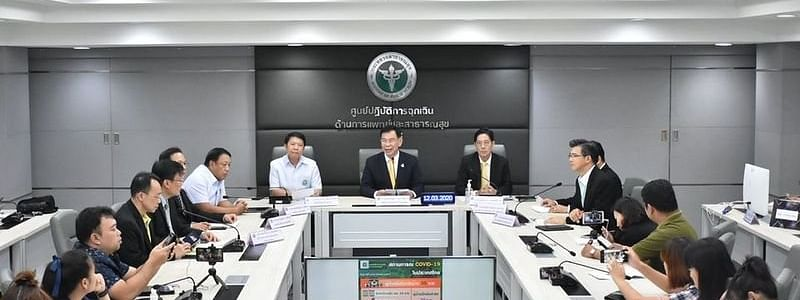 Dr. Sukhum Kanchanapimai, Deputy Ministry of health in a press conference