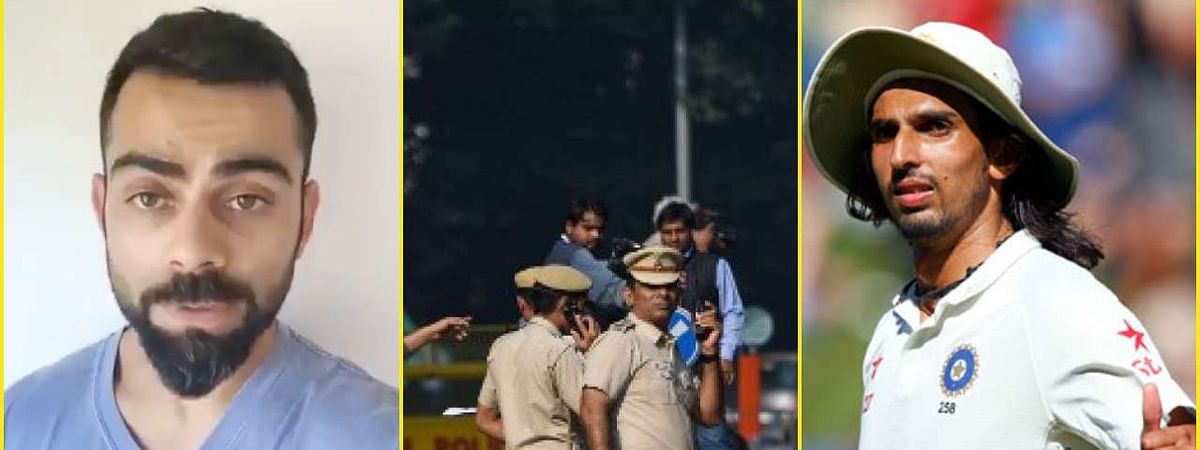 Kohli, Ishant laud Delhi Police for their services during Covid-19 lockdown