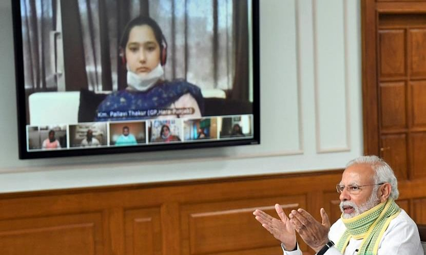 PM interacts with Punjab's youngest female Sarpanch on National Panchayati Raj Day