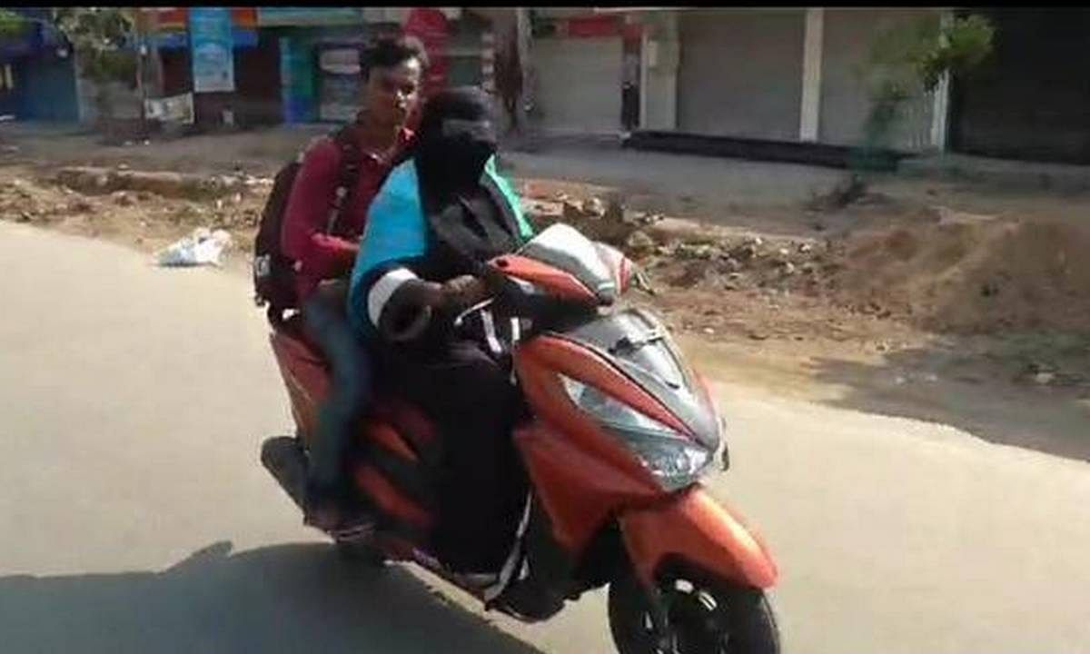 Mother rides 1,400-km on scooty to get to her son stuck in AP