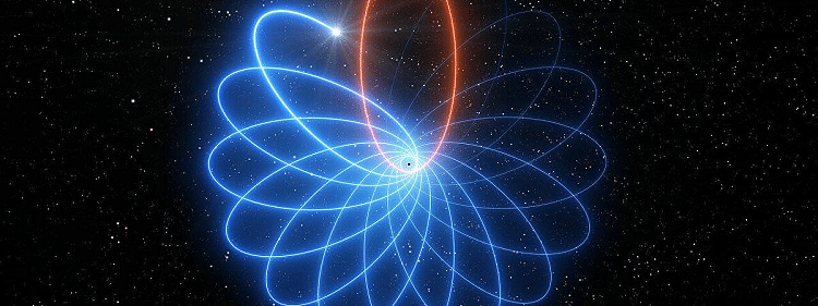 Star with an unusual orbit in Milky-Way center proves black hole existence nearby