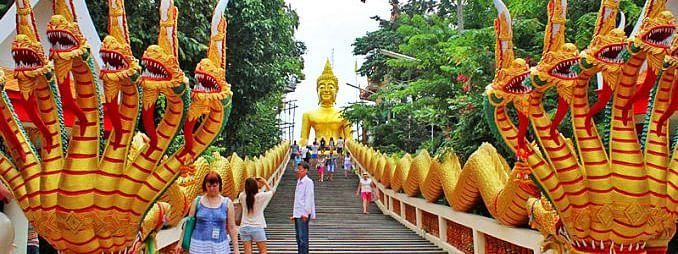 Tourist arrivals to Thailand fall in March