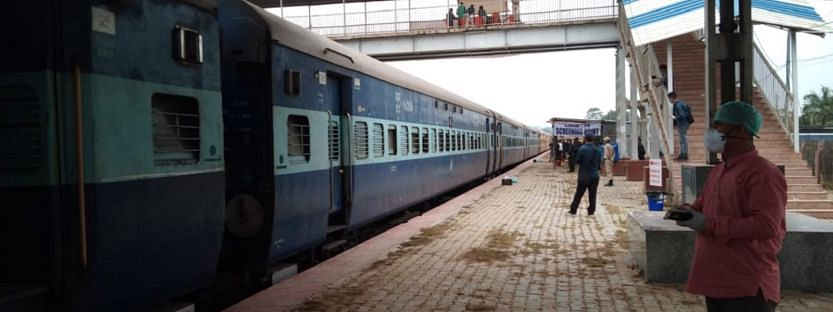 Special train carrying stranded people arrive in Manipur