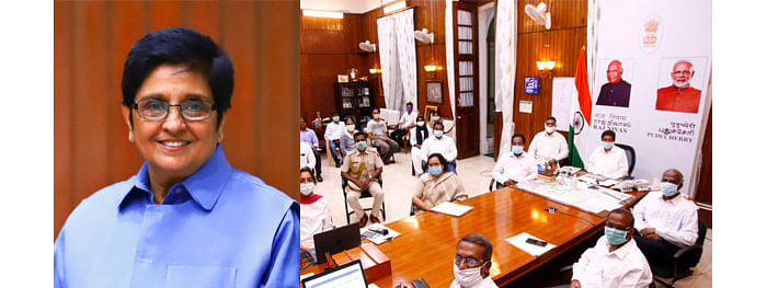 Pondy LG holds online interaction on completing 4 yrs in office