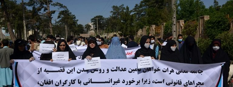 Migrants' killing: Protest outside Iranian consulate, embassy in Afghanistan