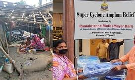 Ramkrishna Mission providing food and shelter to cyclone affected people