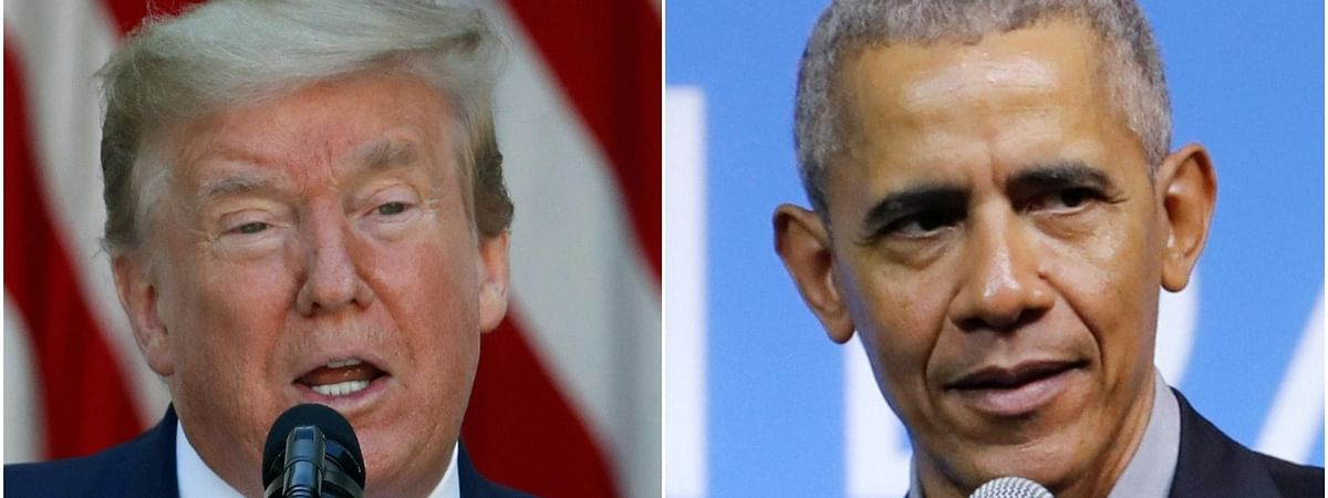 Obama hits out at Trump's handling of pandemic