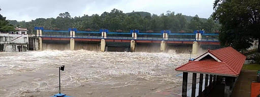 Five shutters of Aruvikkara dam raised due to incessant rain in catchment areas