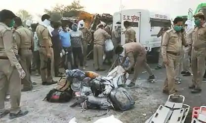 24 migrant workers killed in road accident in UP's Auraiya