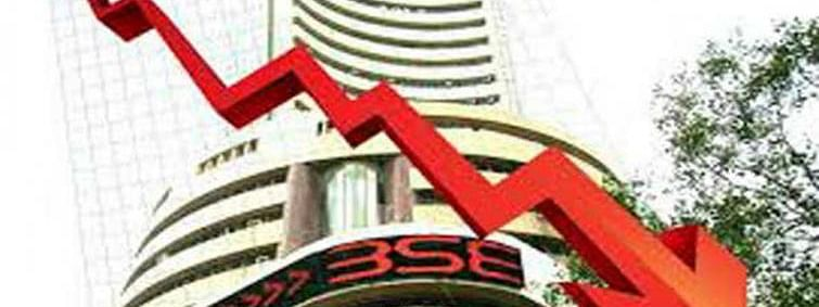 Sensex down by 190.10 pts