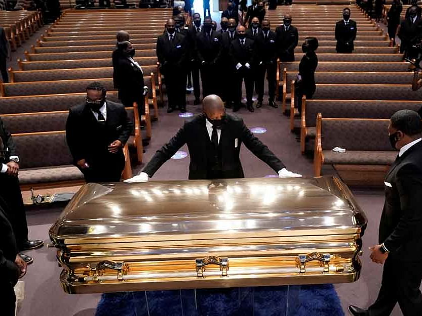 George Floyd laid to rest after funeral in his hometown of Houston