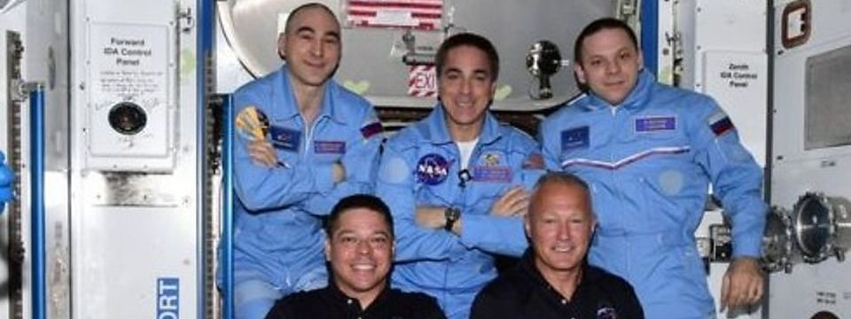 SpaceX Nasa Mission - Astronauts on historic mission enter space station