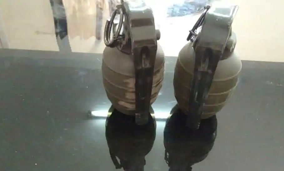 Grenades disarmed by special bomb disposal squad team
