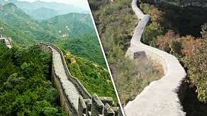 Repair work at China's 2,000-yr-old Great Wall section