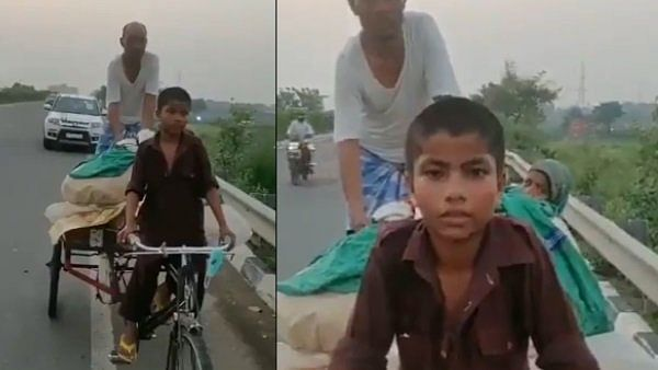 Lockdown : 11-year-old boy pedals tricycle cart for 600 kms to transport his parents from Varanasi to Araria