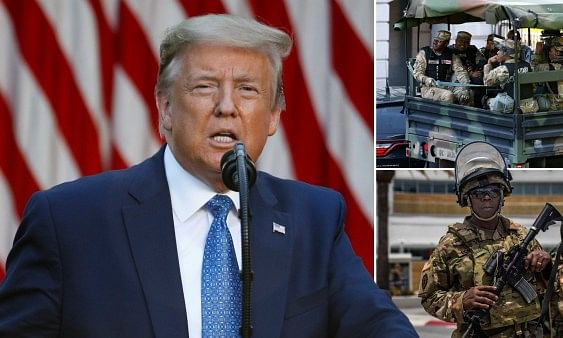 Trump threat to use army against rioters