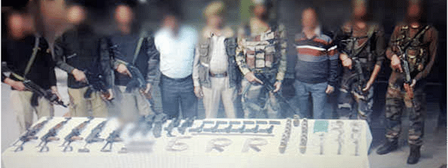 Militant hideout busted, huge cache of weapons recovered near LoC in Kupwara