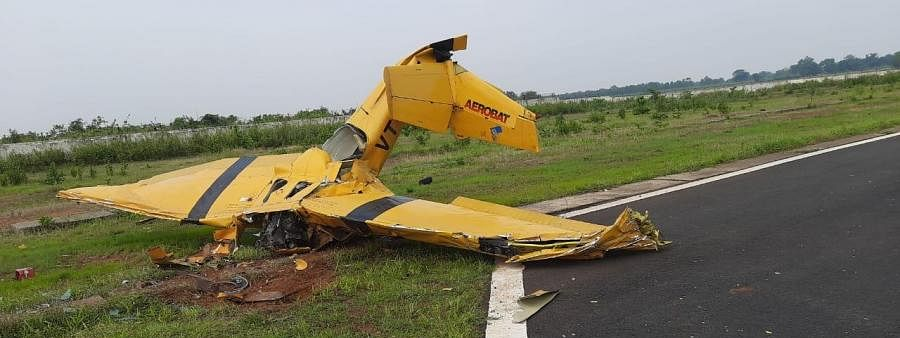 Trainer aircraft crashed killing lady trainee pilot and Instructor