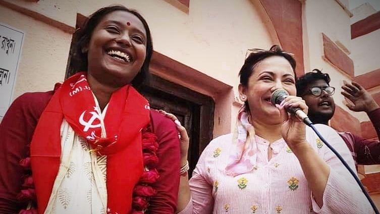WB Election 21: গিমিক, ভাঁওতাবাজীর একমাত্র বিকল্প সংযুক্ত মোর্চা - বালিতে বাম প্রচারে শ্রীলেখা মিত্র