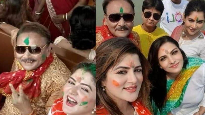 "WB Election 21: গঙ্গাবক্ষে আবির খেলা নিয়ে পায়েল-তনুশ্রী-শ্রাবন্তীকে ""নটী"" বলে তুলোধোনা তথাগতর"
