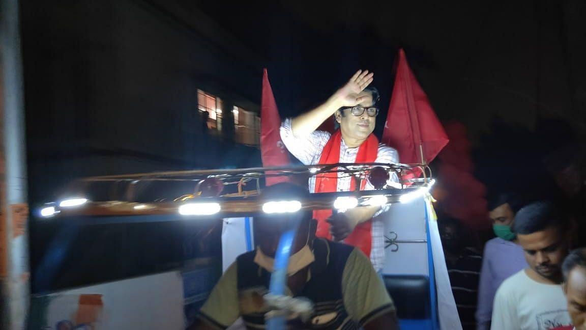 WB Election 21: এক নজরে টালিগঞ্জের সিপিআই(এম) প্রার্থী দেবদূত ঘোষের প্রচার (গ্যালারি)