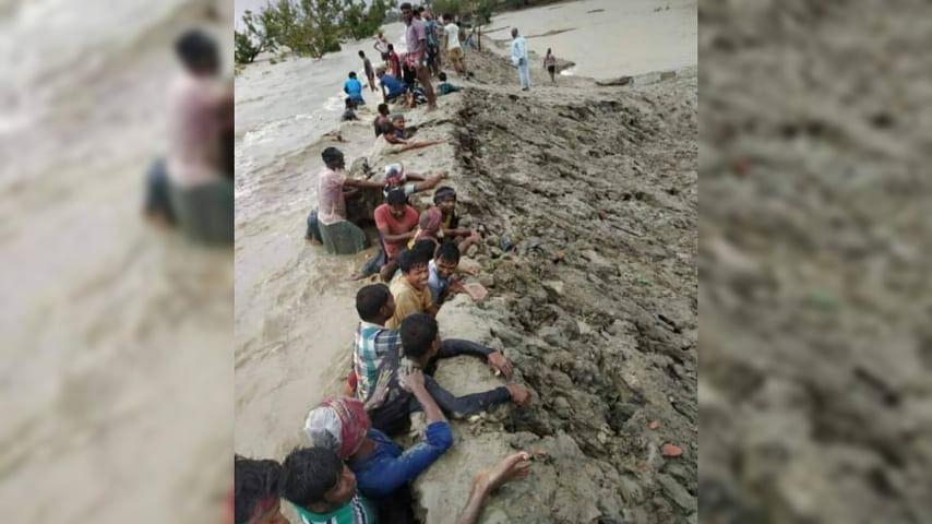 Cyclone Yaas: পাথরপ্রতিমার 'হান্স'রা বুক দিয়ে আগলে রাখলেন বাঁধ, সোশ্যাল মিডিয়ায় ভাইরাল সেই লড়াই