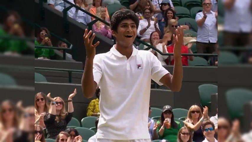 Wimbledon: জুনিয়র বিভাগে খেতাব জিতে নিলেন প্রবাসী বাঙালি সমীর ব্যানার্জি