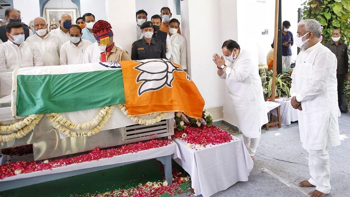 Uttar Pradesh: জাতীয় পতাকার ওপরে BJP-র পতাকা, কল্যাণ সিং-এর শেষ শ্রদ্ধা অনুষ্ঠান ঘিরে তীব্র বিতর্ক