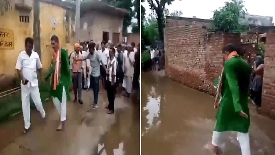 Uttar Pradesh: প্রতিশ্রুতি পূরণ হয়নি, রাস্তার জমা জলে বিজেপি বিধায়ককে হাঁটালেন গ্রামবাসীরা