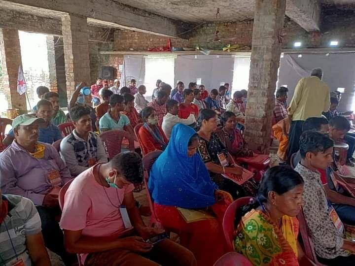 নন্দীগ্রাম ১ নম্বর ব্লকে DYFI সম্মেলনে প্রতিনিধিবৃন্দ