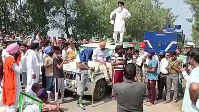 এবার হরিয়ানাতে বিক্ষোভরত কৃষকদের ধাক্কা মারার অভিযোগ BJP সাংসদের কনভয়ের গাড়ির বিরুদ্ধে