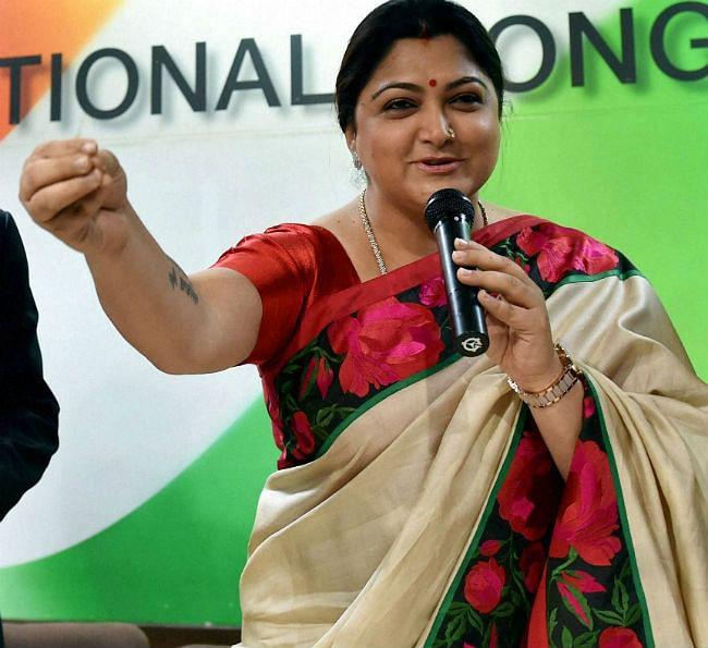 अब कांग्रेस के साथ राजनीतिक पारी खेलेंगी दक्षिण भारतीय अभिनेत्री खुशबू