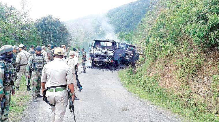 मणिपुर हमला : शहीद छह जवानों का राजकीय सम्मान के साथ किया गया अंतिम संस्कार