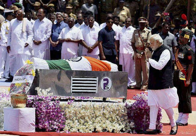 राजकीय सम्मान के साथ पूर्व राष्ट्रपति डॉ कलाम को दी गयी अंतिम विदाई, लगे  'भारत माता की जय' के नारे