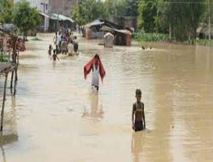 गंडक नदी में बढ़ा जल स्तर, कई इलाकों में दूसरी बार आया पानी, ग्रामीण परेशान