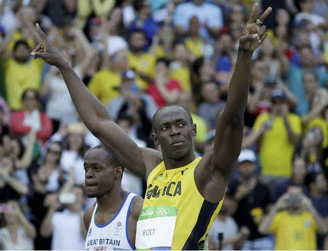 रियो 2016 : बोल्ट ने 100 मीटर में हैट्रिक बनाकर रचा इतिहास