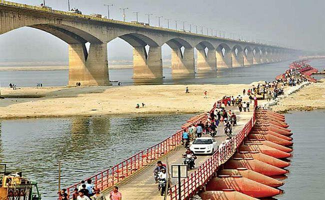 माॅनसून के दस्तक के साथ ही पीपा पुल बंद, गांधी सेतु पर बढ़ेगा दबाव, बढ़ सकती है जाम की समस्या