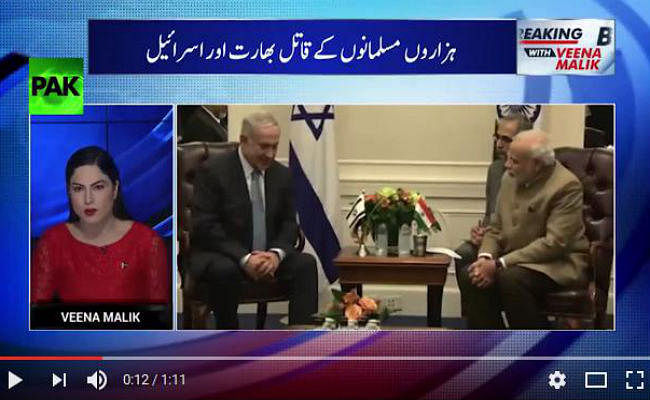 VIDEO : पाकिस्तानी अभिनेत्री से न्यूज एंकर बनी वीना मलिक, नरेंद्र मोदी के इजराइल दौरे पर की आपत्तिजनक टिप्पणी