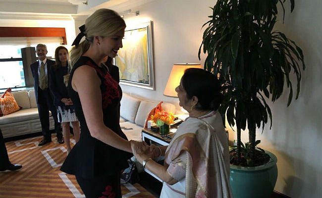 ''करिश्माई'' विदेश मंत्री सुषमा स्वराज से ट्रंप की बेटी ने की मुलाकात, पढ़ें क्या किया ट्वीट