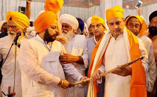 मप्र विधानसभा चुनाव: मंदिर, दरगाह के बाद राहुल गांधी पहुंचे गुरुद्वारा, टेका मत्था