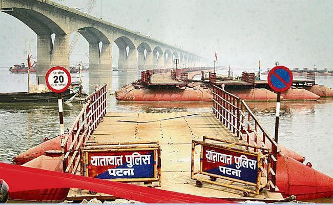 पीपा पुल शुरू होने पर ही बंद होगा गांधी सेतु के पूर्वी लेन पर वाहनों का परिचालन
