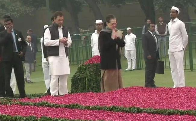 पीएम मोदी, सोनिया गांधी और  कांग्रेस अध्यक्ष राहुल गांधी ने इंदिरा गांधी की जयंती पर दी श्रद्धांजलि