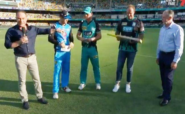 इस क्रिकेट मैच में टॉस के लिए सिक्के की जगह बल्ले को उछाला गया, देखें VIDEO