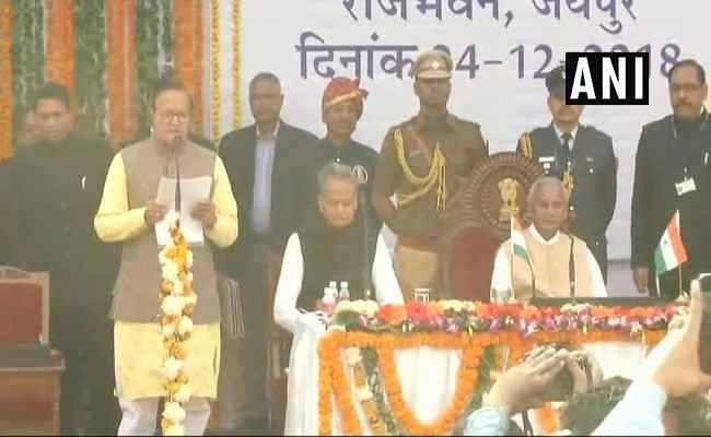 राजस्थान में अशोक गहलोत के 23 सदस्यीय मंत्रिमंडल को राज्यपाल ने दिलाया शपथ