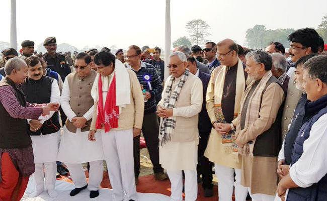 मिथिलांचल को नये वर्ष का मिला तोहफा, CM नीतीश और केंद्रीय मंत्री ने किया एयरपोर्ट का शिलान्यास