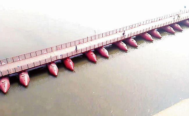 पटना : 'पीपा पुल पर रात में चलेंगे वाहन, लाइटिंग का करें इंतजाम'
