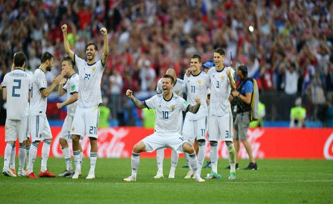 FIFA WC : रूस 48 साल बाद पहुंचा क्वार्टर फाइनल में, स्पेन को 4-3 से रौंदा